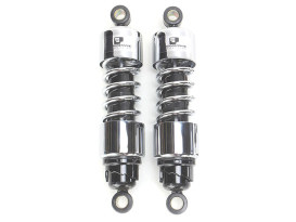 412 Series, 11.5in. Standard Spring Rate Rear Shock Absorbers - Chrome. Fits Sportster 2004up.
