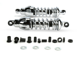 430 Series, 11in. Standard Spring Rate Rear Shock Absorbers - Chrome. Fits Sportster 2004up.