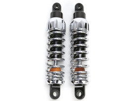 444 Series, 11.5in. Standard Spring Rate Rear Shock Absorbers - Chrome. Fits Dyna 1991-2017.