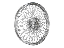 120 Spoke, 21in. x 2.15in. Wide, Crosslaced Wheel - Chrome Rim & Polished Stainless Steel Spokes & Nipples.