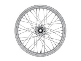 40 Spoke, 21in. x 2.15in. Wide, Crosslaced Wheel - Chrome Rim & Polished Stainless Steel Spokes & Nipples.</P><P>