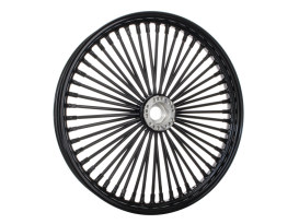 50 Spoke, 21in. x 2.15in. Wide, Fat Daddy Wheel - Gloss Black Rim, Spokes and Nipples. Fits Narrow Glide Front Ends.