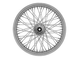 80 Spoke, 21in. x 2.15in. Wide, Crosslaced Wheel - Chrome Rim with Polished Stainless Steel Spokes & Nipples. Fits Narrow Glide Front Ends.</P><P>