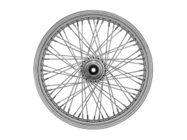 80 Spoke, 21in. x 2.15in. Wide, Crosslaced Wheel - Chrome Rim with Polished Stainless Steel Spokes & Nipples.</P><P>