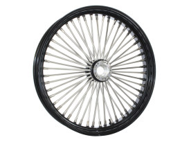 50 Spoke, 23in. x 3.50in. Wide, Fat Daddy Wheel - Black Rim & Polished Stainless Steel Spokes & Nipples.</P><P>