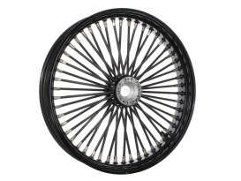 50 Spoke, 21in. x 3.50in. Wide, Fat Daddy Wheel - Gloss Black Rim & Spokes with Polished Stainless Steel Nipples.</P><P></P><P>