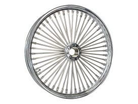 50 Spoke, 21in. x 3.00in. Wide, Fat Daddy Wheel - Chrome Rim with Polished Stainless Steel Spokes & Nipples. Fits Narrow Glide Front Ends