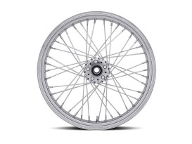 40 Spoke, 16in. x 3.50in. Wide, Crosslaced Wheel - Chrome Rim with Polished Stainless Steel Spokes & Nipples.