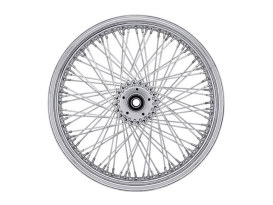 80 Spoke, 16in. x 3.50in. Wide, Crosslaced Wheel - Chrome Rim with Polished Stainless Steel Spokes & Nipples.