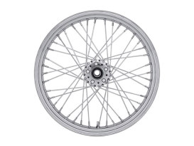 40 Spoke, 18in. x 3.50in. Wide, Crosslaced Wheel - Chrome Rim with Polished Stainless Steel Spokes & Nipples.