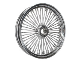 50 Spoke, 18in. x 3.50in. Wide, Fat Daddy Wheel - Chrome Rim with Polished Stainless Steel Spokes & Nipples. Fits Narrow Glide front Ends.