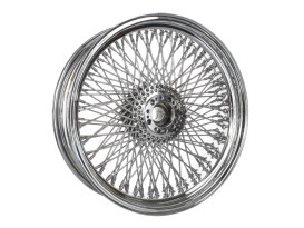 120 Spoke, 18in. x 5.50in. Wide, Crosslaced Wheel - Chrome Rim with Polished Stainless Steel Spokes & Nipples.