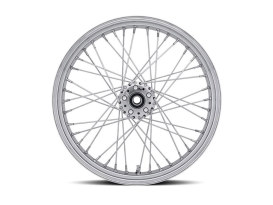 40 Spoke, 18in. x 5.50in. Wide, Crosslaced Wheel - Chrome Rim with Polished Stainless Steel Spokes & Nipples.