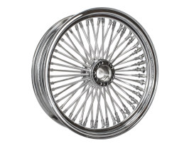 50 Spoke, 18in. x 5.50in. Wide, Fat Daddy Wheel - Chrome Rim with Polished Stainless Steel Spokes & Nipples.