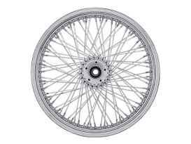 80 Spoke, 18in. x 5.50in. Wide, Crosslaced Wheel - Chrome Rim with Polished Stainless Steel Spokes & Nipples.