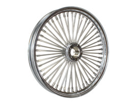 50 Spoke, 19in. x 2.15in. Wide, Fat Daddy Wheel - Chrome Rim with Polished Stainless Steel Spokes & Nipples. Fits Narrow Glide Front Ends.