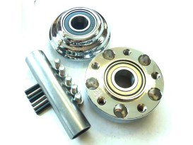 Front Wheel Hub - Chrome. Fits Ride Wright Spoke Wheel on Street 500 & Street 750 2015up Models with Narrow Glide Front End & ABS.