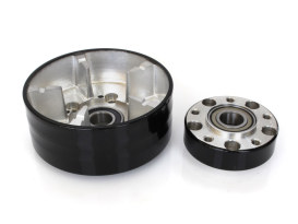 Rear Wheel Hub with Black Finish. Fits Ride Wright Spoke Wheel on Street 500 & Street 750 2015up Models with ABS & OEM Cush Drive.