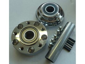 Front Wheel Hub - Chrome. Fits Ride Wright Spoke Wheel on FXST 2011up with ABS & Single Disc Rotor.