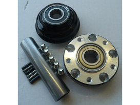Front Wheel Hub - Black. Fits Ride Wright Spoke Wheel on Sportster 1200X, Sportster 883L & Sportster 1200C 2014up Models with ABS & Single Disc Rotor.