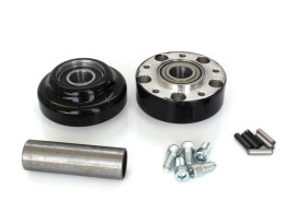 Front Wheel Hub - Black. Fits Ride Wright Spoke Wheel on Dyna 2012up with ABS & Narrow Glide Front End.