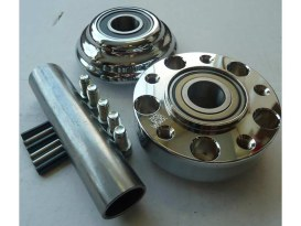Front Wheel Hub with Chrome Finish. Fits Dyna Ride Wright Spoke Wheel on 2012up with ABS & Narrow Glide Front End.