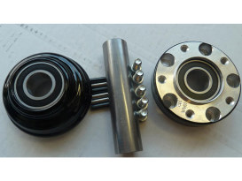 Front Wheel Hub with Black Finish. Fits Ride Wright Spoke Wheel on Dyna 2006-2011 with Narrow Glide Front End.