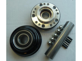 Front Wheel Hub with Black Finish. Fits Ride Wright Spoke Wheel on Rocker/C 2008-2011 with Single Disc Rotor.