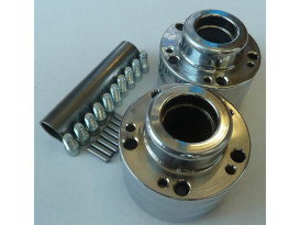 Rear Wheel Hub with Chrome Finish. Fits Ride Wright Spoke Wheel on Heartland HL-SC Kits.