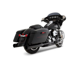 MotoPro 45 Slimline Dual Exhaust  - Black with Black MP45 End Caps. Fits Touring 2009-2016.