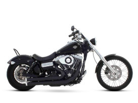2-into-2 Exhaust with Black Finish & Chrome End Caps. Fits Dyna 2006-2017.