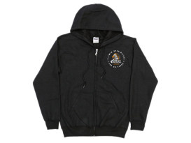 Large Rollies Speed Shop 40th Anniversary Black Zip Up Hoodie.