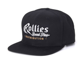 Rollies Speed Shop Cap. Black. One size fits all.