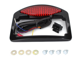 Cats Eye LED Taillight with Turn Signals & License Plate - Black.