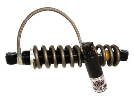 13.5in. RS-1 Piggyback Rear Shock Absorbers with Standard Spring Rate - Black. Fits Softail 2018up.