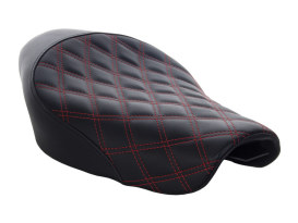 Renegade LS Solo Seat with Red Double Diamond Lattice Stitch. Fits Sportster 2004up with 4.5 Gallon Fuel Tank.