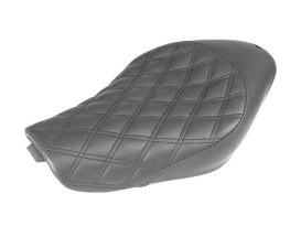 Renegade LS Solo Seat with Black Double Diamond Lattice Stitch. Fits Sportster 2004up with 4.5 Gallon Fuel Tank.