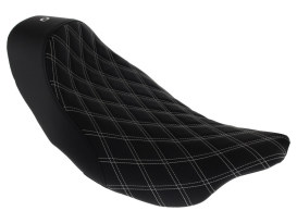Renegade LS Solo Seat with White Double Diamond Lattice Stitch. Fits Touring 2008up.