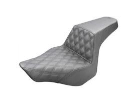 Step-Up LS Dual Seat with Black Double Diamond Lattice Stitch. Fits Breakout 2013-2017.