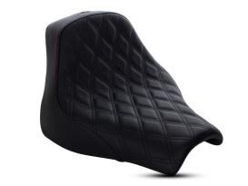Renegade LS Solo Seat with Black Double Diamond Lattice Stitch. Fits Fat Bob 2018up.