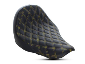 Renegade LS Solo Seat with Gold Double Diamond Lattice Stitch. Fits Sport Glide & Low Rider 2018up & Low Rider S 2020up.