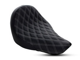 Renegade LS Solo Seat with Silver Double Diamond Lattice Stitch. Fits Sport Glide & Low Rider 2018up & Low Rider S 2020up.