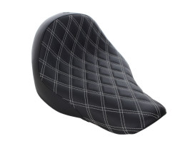 Renegade LS Solo Seat with White Double Diamond Lattice Stitch. Fits Sport Glide & Low Rider 2018up & Low Rider S 2020up.