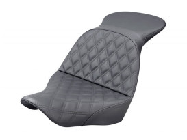 Explorer LS Dual Seat with Black Double Diamond Lattice Stitch. Fits Sport Glide & Low Rider 2018up & Low Rider S 2020up.