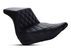 Step-Up LS Dual Seat with Black Double Diamond Lattice Stitch. Fits Sport Glide & Low Rider 2018up & Low Rider S 2020up.