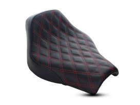 Renegade LS Solo Seat with Red Double Diamond Lattice Stitch. Fits Softail Slim & Street Bob 2018up Models.