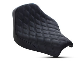 Renegade LS Solo Seat with Black Double Diamond Lattice Stitch. Fits Deluxe, Heritage Classic, Softail Slim & Street Bob 2018up Models.