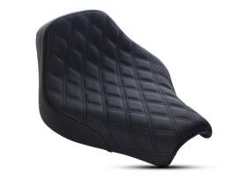 Renegade LS Solo Seat with Black Double Diamond Lattice Stitch. Fits Softail Slim & Street Bob 2018up.