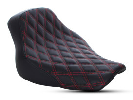 Renegade LS Solo Seat with Red Double Diamond Lattice Stitch. Fits Softail Deluxe and Heritage Softail Classic 2018up.