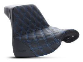 Step-Up Front LS Dual Seat with Blue Double Diamond Lattice Stitch. Fits Breakout 2018up.
